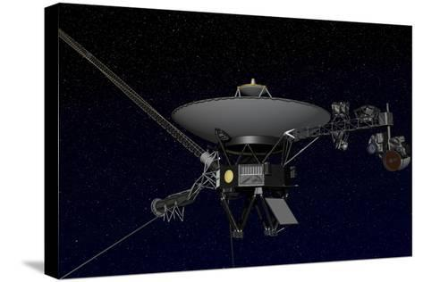 Artist's Concept of One of the Twin Voyager Spacecraft--Stretched Canvas Print