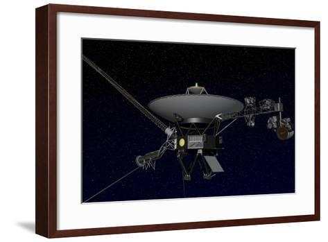 Artist's Concept of One of the Twin Voyager Spacecraft--Framed Art Print