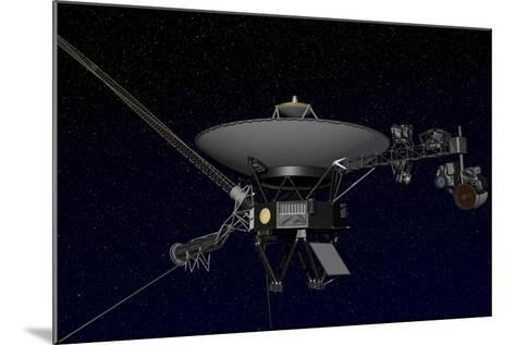 Artist's Concept of One of the Twin Voyager Spacecraft--Mounted Art Print