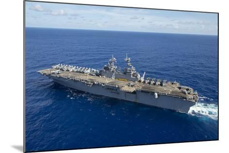 The Amphibious Assault Ship USS Boxer Transits the Pacific Ocean--Mounted Photographic Print