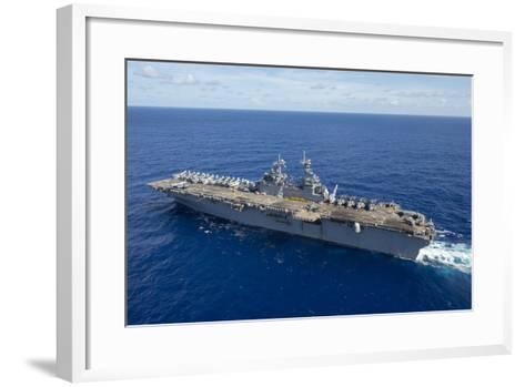 The Amphibious Assault Ship USS Boxer Transits the Pacific Ocean--Framed Art Print