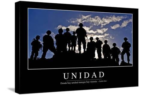 Unidad. Cita Inspiradora Y Póster Motivacional--Stretched Canvas Print