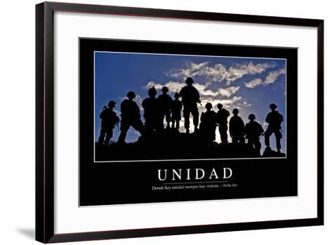 Unidad. Cita Inspiradora Y Póster Motivacional--Framed Art Print
