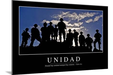 Unidad. Cita Inspiradora Y Póster Motivacional--Mounted Photographic Print