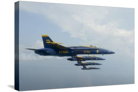 F-A-18 Hornets from the U.S. Navy Blue Angels Team--Stretched Canvas Print
