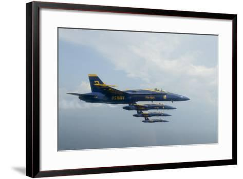 F-A-18 Hornets from the U.S. Navy Blue Angels Team--Framed Art Print