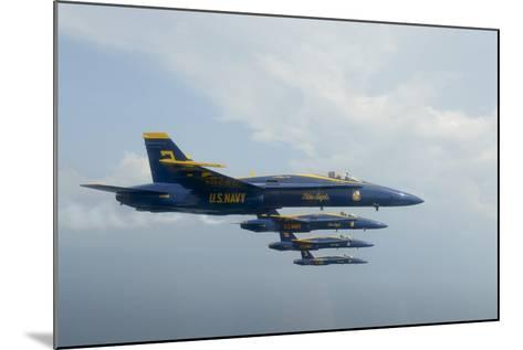F-A-18 Hornets from the U.S. Navy Blue Angels Team--Mounted Photographic Print