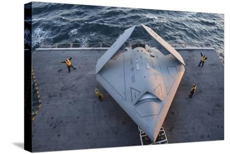High Angle View of an Unmanned Combat Air System--Stretched Canvas Print