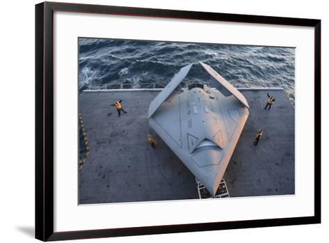 High Angle View of an Unmanned Combat Air System--Framed Art Print