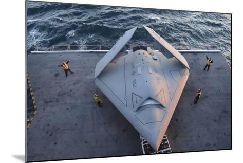 High Angle View of an Unmanned Combat Air System--Mounted Photographic Print