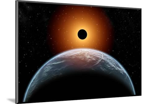 A Total Eclipse of the Sun as Seen from Being in Earth's Orbit--Mounted Art Print