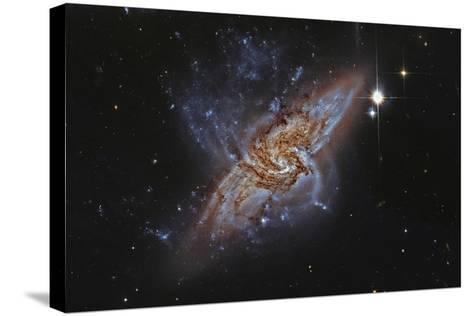 Ngc 3314, a Pair of Overlapping Spiral Galaxies--Stretched Canvas Print