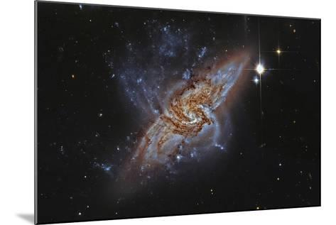 Ngc 3314, a Pair of Overlapping Spiral Galaxies--Mounted Photographic Print