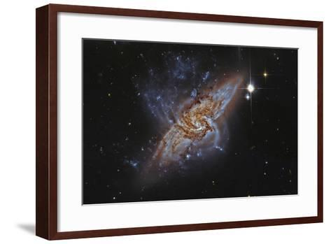 Ngc 3314, a Pair of Overlapping Spiral Galaxies--Framed Art Print
