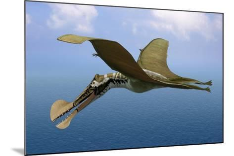 Tropeognathus Mesembrinus, a Large Pterosaur from the Late Cretaceous Period--Mounted Art Print