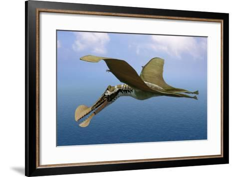 Tropeognathus Mesembrinus, a Large Pterosaur from the Late Cretaceous Period--Framed Art Print