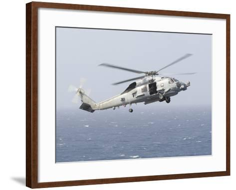 An Mh-60R Sea Hawk Helicopter Prepares to Land--Framed Art Print