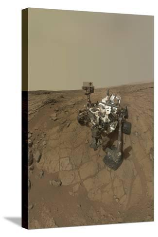 Self-Portrait of Curiosity Rover on the Surface of Mars--Stretched Canvas Print