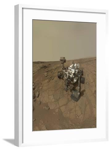Self-Portrait of Curiosity Rover on the Surface of Mars--Framed Art Print