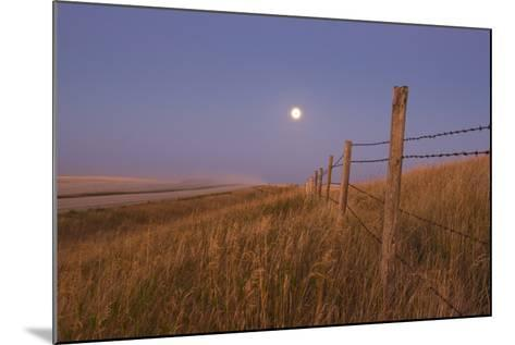 Harvest Moon Down the Road, Gleichen, Alberta, Canada--Mounted Photographic Print