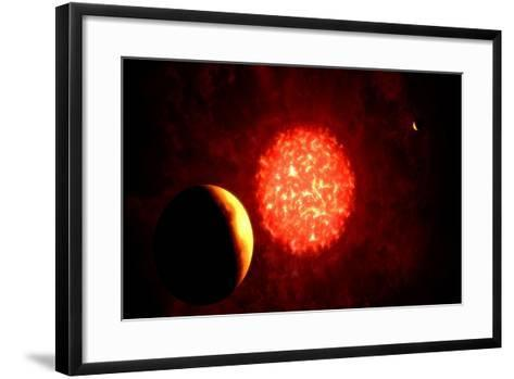 View from Pluto If Our Sun Were Replaced by Vy Canis Majoris--Framed Art Print