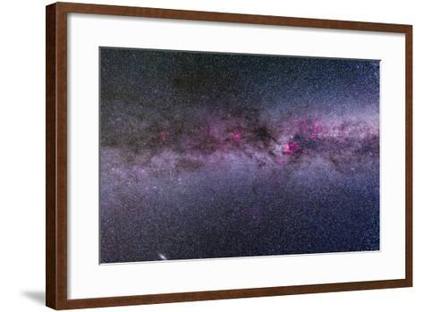 The Northern Milky Way from Cygnus to Cassiopeia and Perseus--Framed Art Print