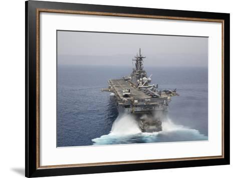 A Landing Craft Air Cushion Enters the Well Deck of USS Kearsarge--Framed Art Print