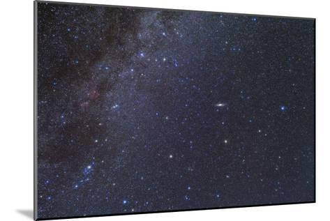 Cassiopeia, Perseus and Andromeda Area of the Northern Autumn Sky--Mounted Photographic Print