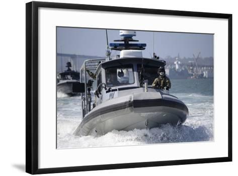 Sailors Conduct Training in Small Boat Defensive Tactics in San Diego Bay--Framed Art Print