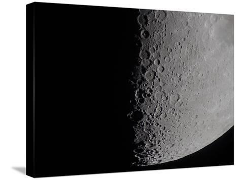South Terminator of 7 Day Moon--Stretched Canvas Print