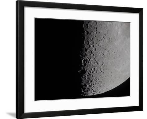 South Terminator of 7 Day Moon--Framed Art Print