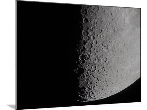 South Terminator of 7 Day Moon--Mounted Photographic Print