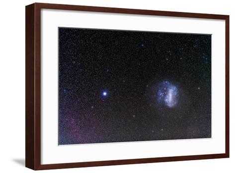 The Large Magellanic Cloud and Bright Star Canopus--Framed Art Print