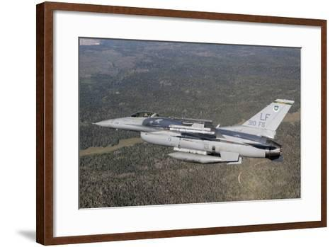 F-16C Fighting Falcon During a Sortie over Arizona--Framed Art Print