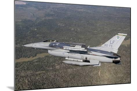 F-16C Fighting Falcon During a Sortie over Arizona--Mounted Photographic Print