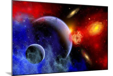 A Mixture of Colorful Stars, Planets, Nebulae and Galaxies--Mounted Art Print