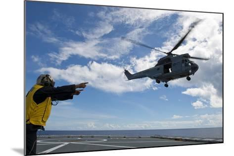A French Armee De Terre Sa 380 Puma Helicopter Taking Off--Mounted Photographic Print