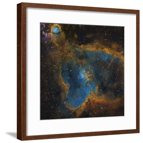 Ic 1805, the Heart Nebula--Framed Art Print