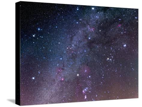 Winter Sky Panorama with Various Deep Sky Objects--Stretched Canvas Print