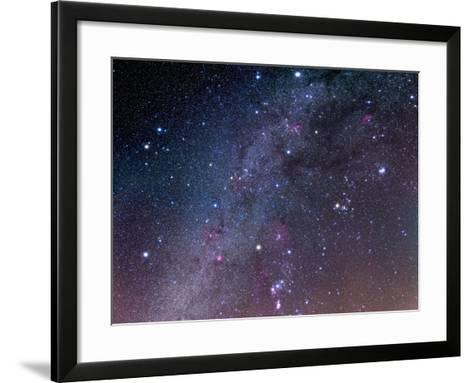 Winter Sky Panorama with Various Deep Sky Objects--Framed Art Print