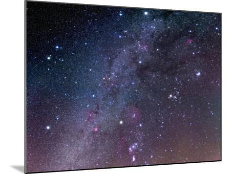 Winter Sky Panorama with Various Deep Sky Objects--Mounted Photographic Print