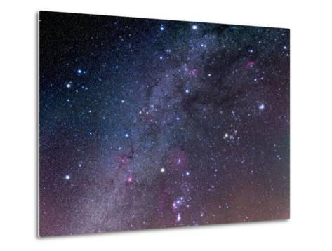 Winter Sky Panorama with Various Deep Sky Objects--Metal Print
