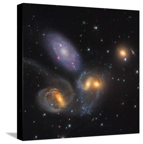 Stephan's Quintet, a Grouping of Galaxies in the Constellation Pegasus--Stretched Canvas Print