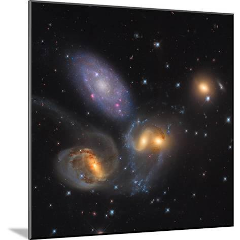 Stephan's Quintet, a Grouping of Galaxies in the Constellation Pegasus--Mounted Photographic Print