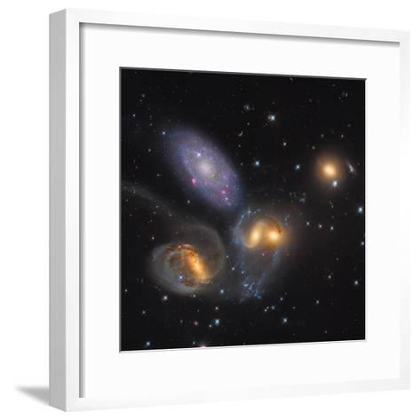 Stephan's Quintet, a Grouping of Galaxies in the Constellation Pegasus--Framed Art Print