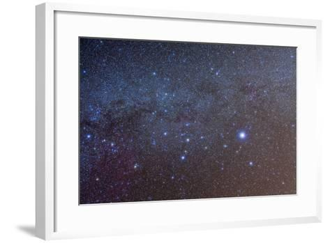 The Constellation of Canis Major with Nearby Deep Sky Objects--Framed Art Print