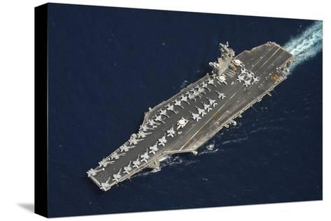 The Aircraft Carrier USS Dwight D. Eisenhower--Stretched Canvas Print