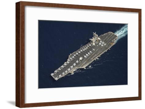 The Aircraft Carrier USS Dwight D. Eisenhower--Framed Art Print