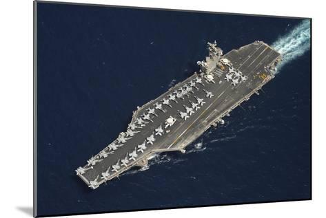 The Aircraft Carrier USS Dwight D. Eisenhower--Mounted Photographic Print