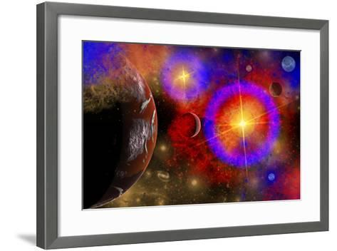 A Colorful Section of Alien Space in Our Galaxy--Framed Art Print
